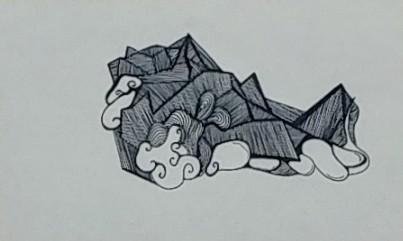 """Moon of Titan (5""""x8"""" $20)"""